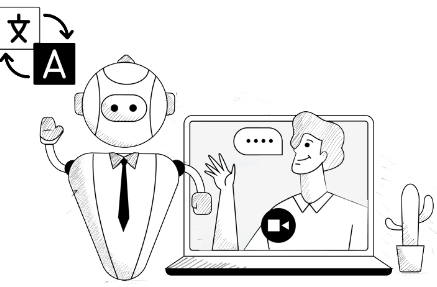 multilingual AI Chatbot with video