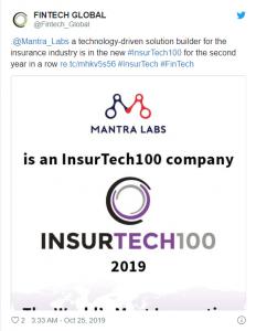 Insurtech100 FinTech Global Twitter